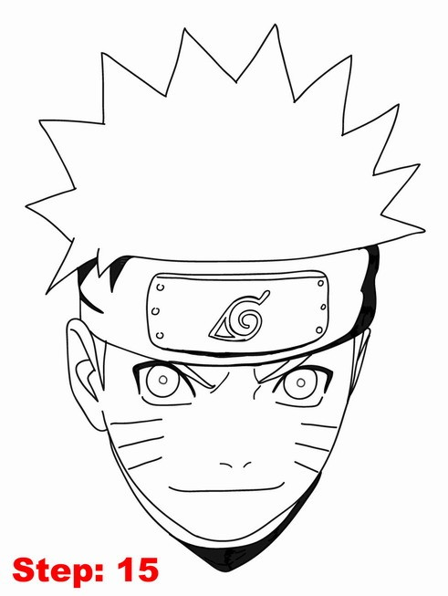 Drawn naruto line drawing Step drawing tutorial Naruto Step