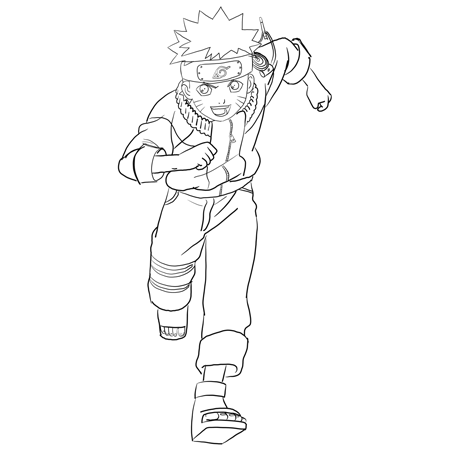 Drawn naruto line drawing Tutorials by Instructions How Drawing
