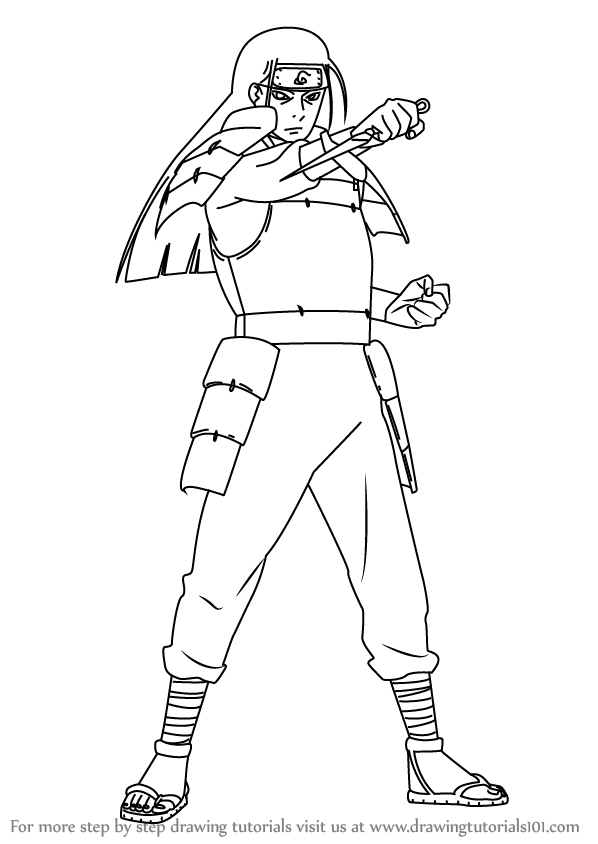 Drawn naruto line drawing By (Naruto) Step  Step