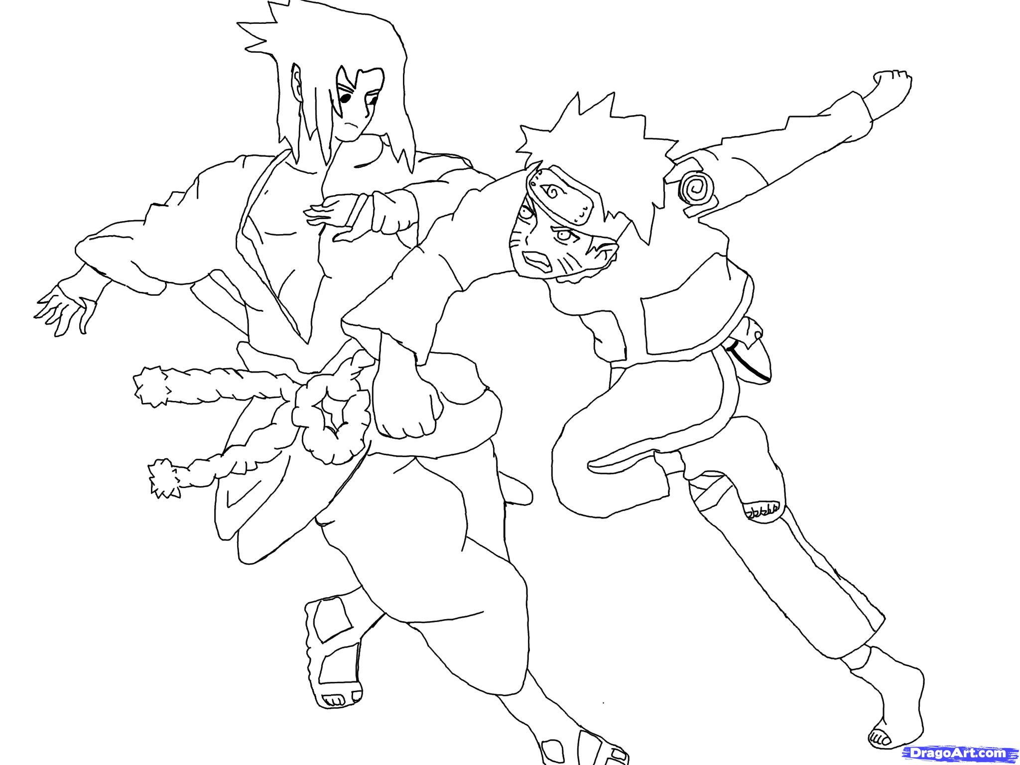 Drawn naruto line drawing How Naruto  draw Step