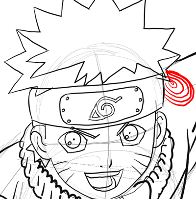 Drawn naruto line drawing Step Drawing to Step Draw