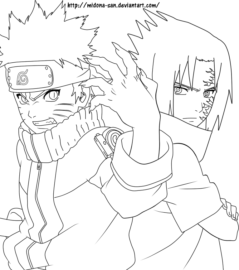 Drawn naruto line drawing Anime SymbolsTattoosKids LineArt: Naruto Naruto