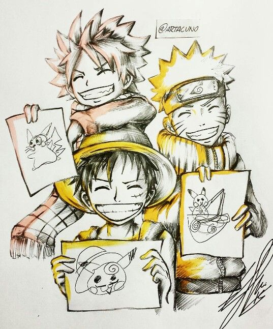 Drawn 3d art one piece Piece by The ideas Naruto