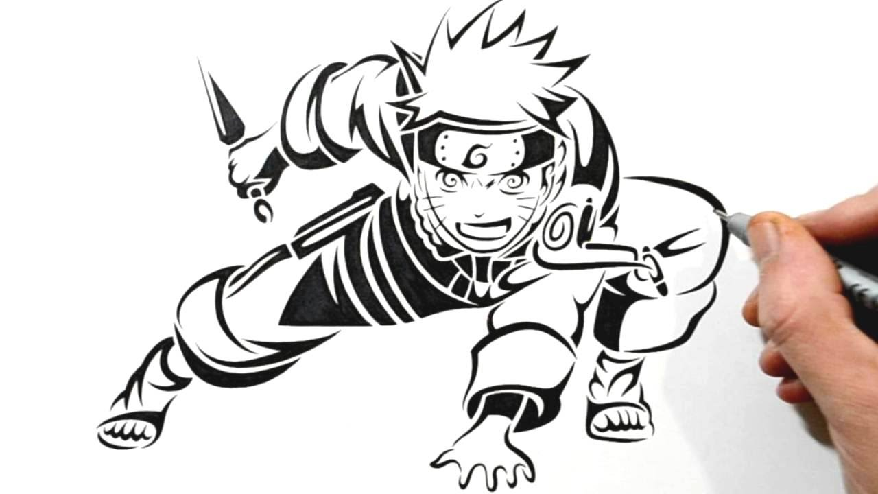 Drawn naruto logo Design Style Drawing a in