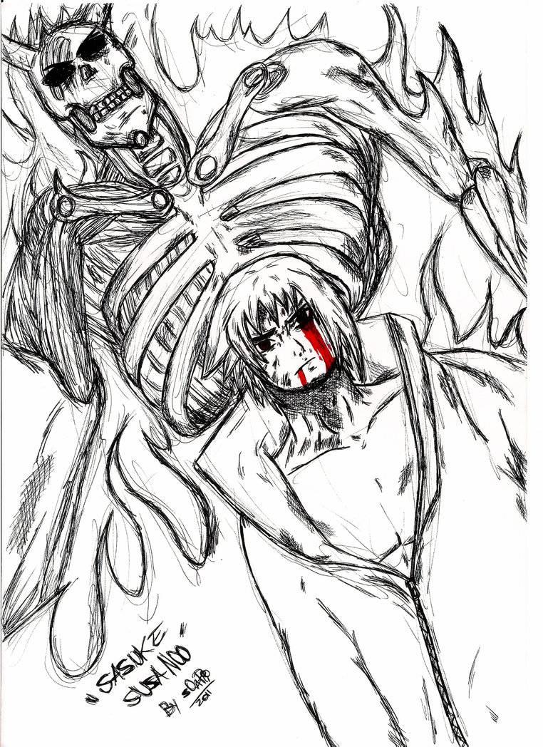 Drawn naruto logo Drawing susanoo sasuke's of