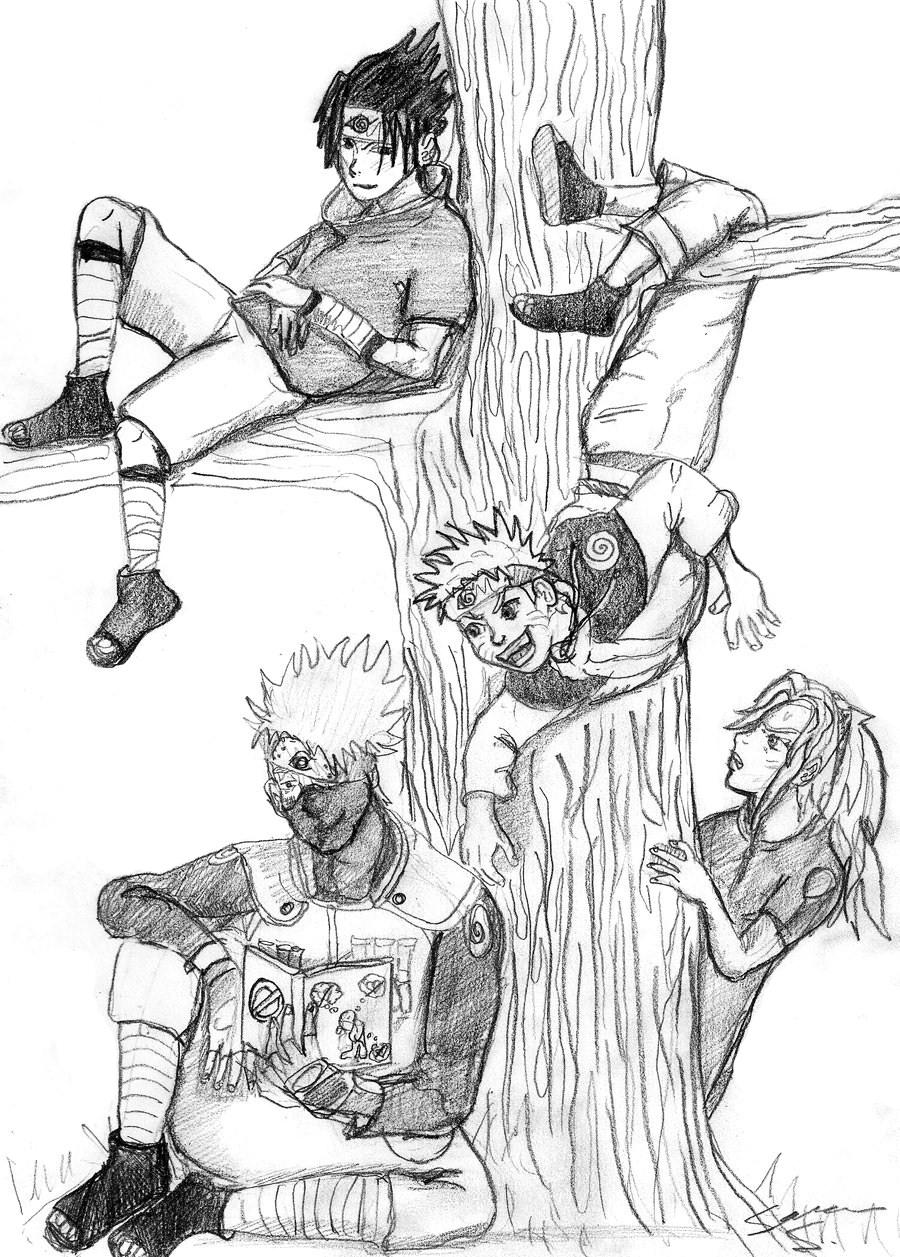 Drawn naruto love Sasuke  Sakura by Anime/Naruto