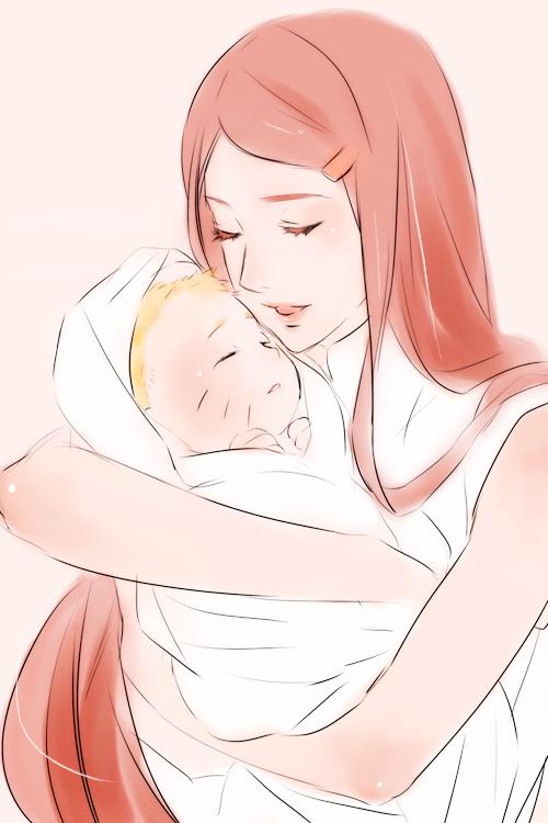 Drawn naruto love Kushina little little is beautiful