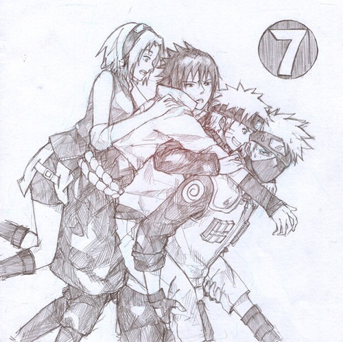 Drawn naruto love Hahaha Face not Team 7