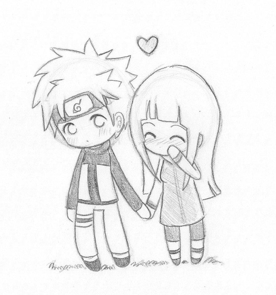 Drawn naruto love By Chibi Cute NaruHina NaruHina
