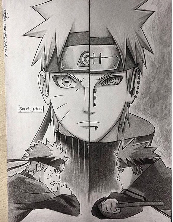 Drawn naruto naroto  on on Naruto Art