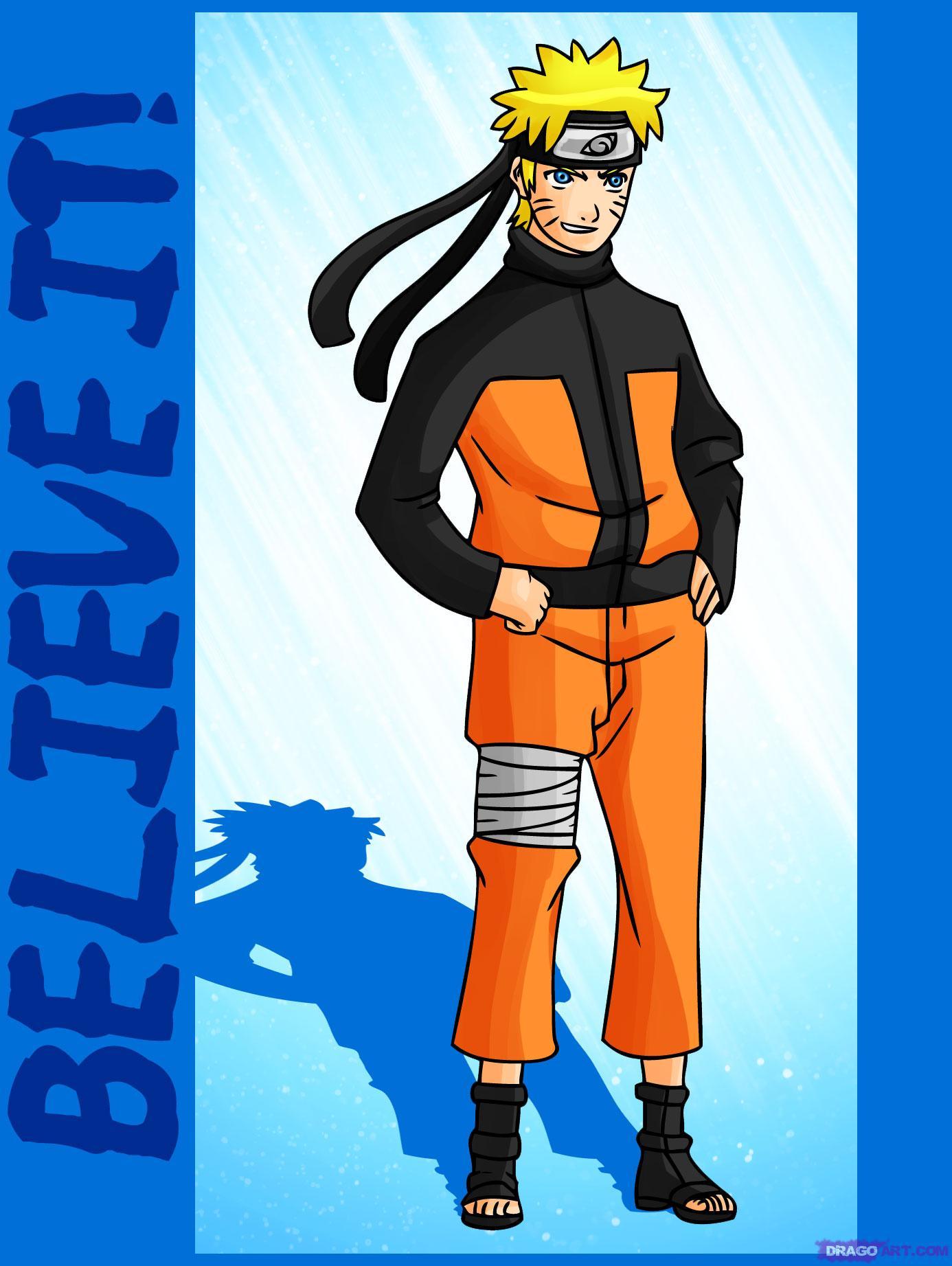 Drawn naruto naruto character To Step by Naruto Characters