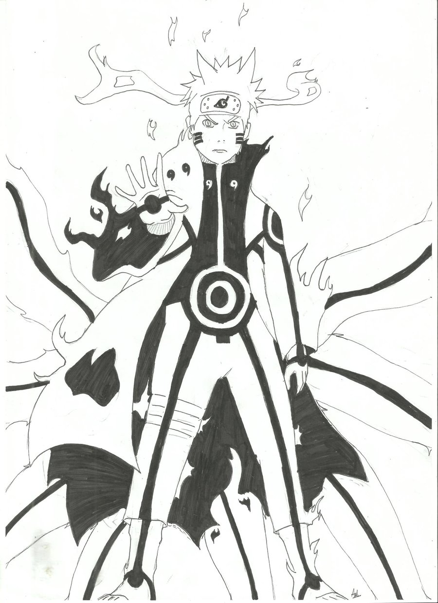 Drawn naruto naruto kyuubi Drawing Naruto Kyuubi Kyuubi image