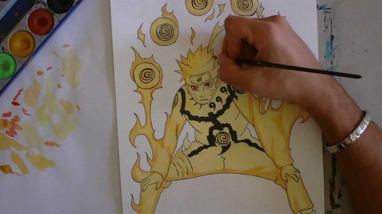 Drawn naruto naruto kyuubi Draw Naruto Kyuubi Tutorial Naruto