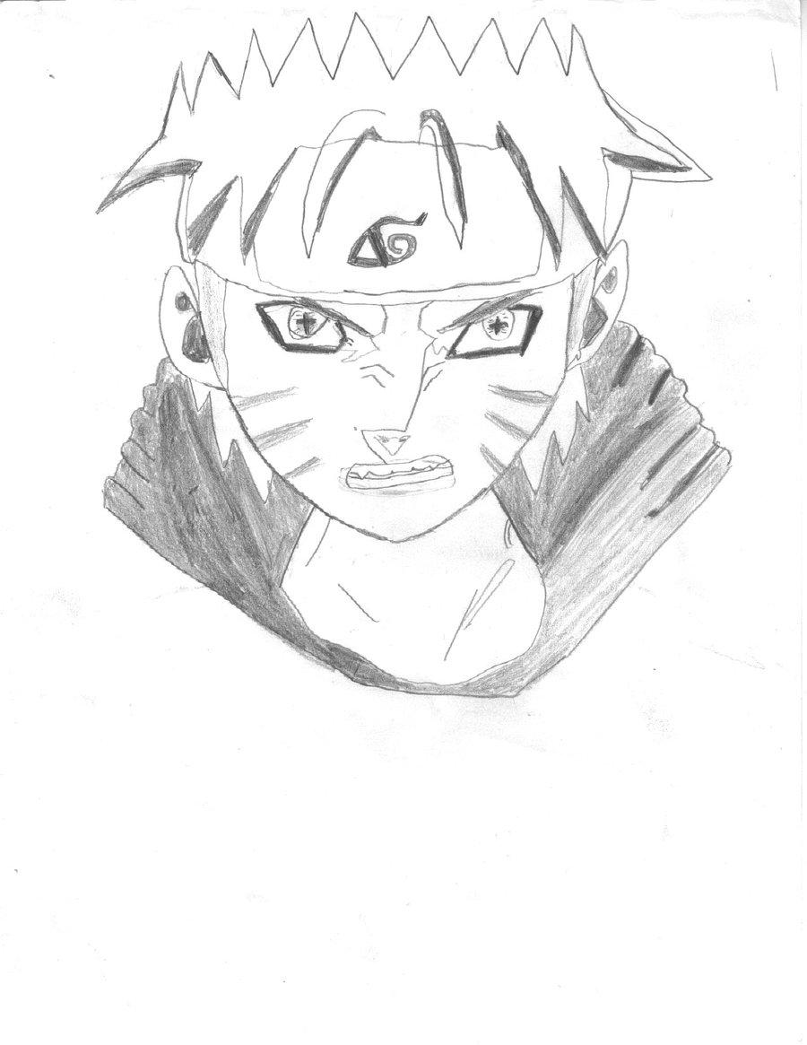 Drawn naruto naruto kyuubi Naruto Kyuubi DeviantArt Kyuubi sage