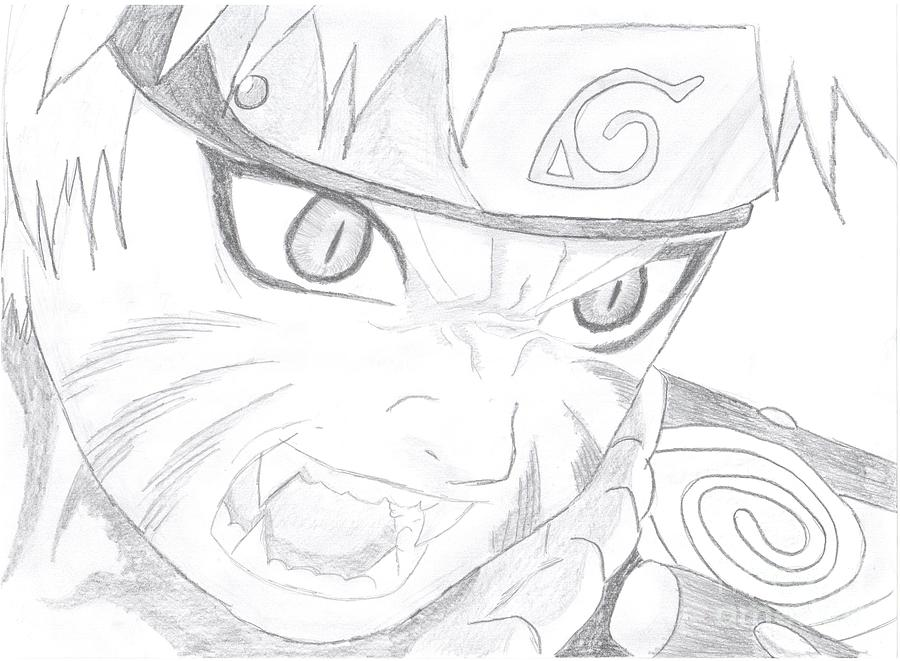 Drawn naruto naruto kyuubi By Martina Jirakova Drawing by