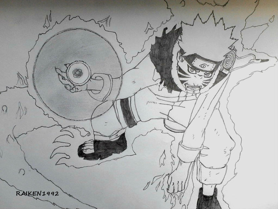 Drawn naruto naruto kyuubi Tail by on Raiken1992 Kyuubi
