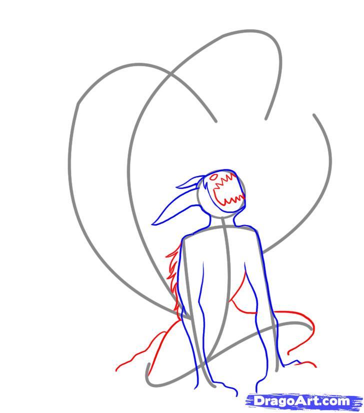 Drawn naruto naruto kyuubi Kyuubi step Step 3 Anime