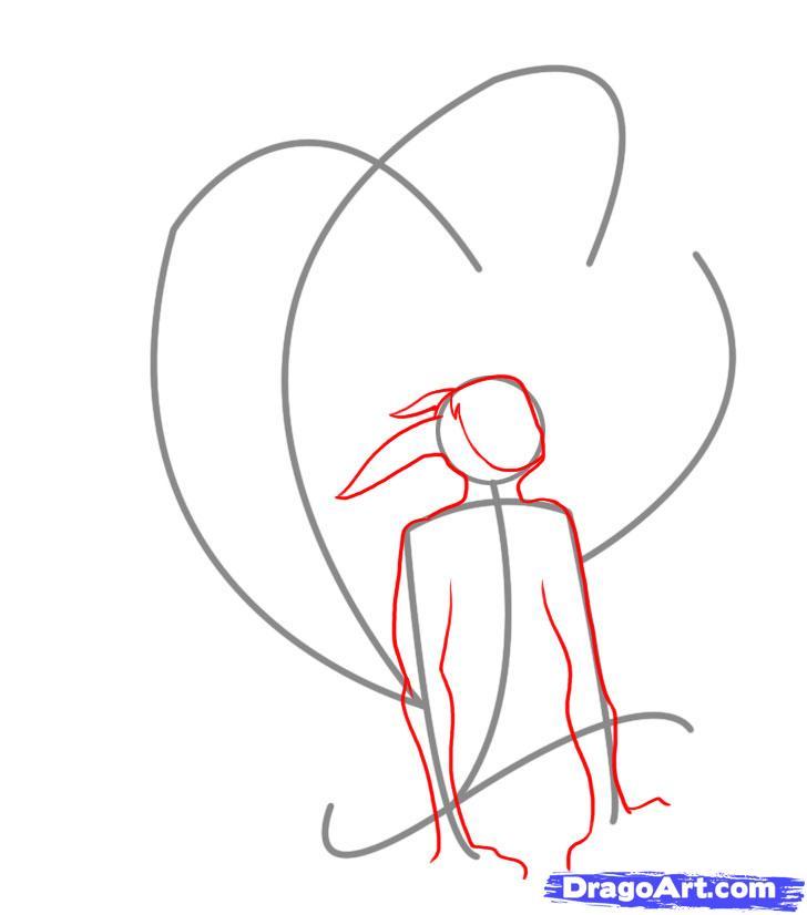 Drawn naruto naruto kyuubi Kyuubi step Step 2 Anime