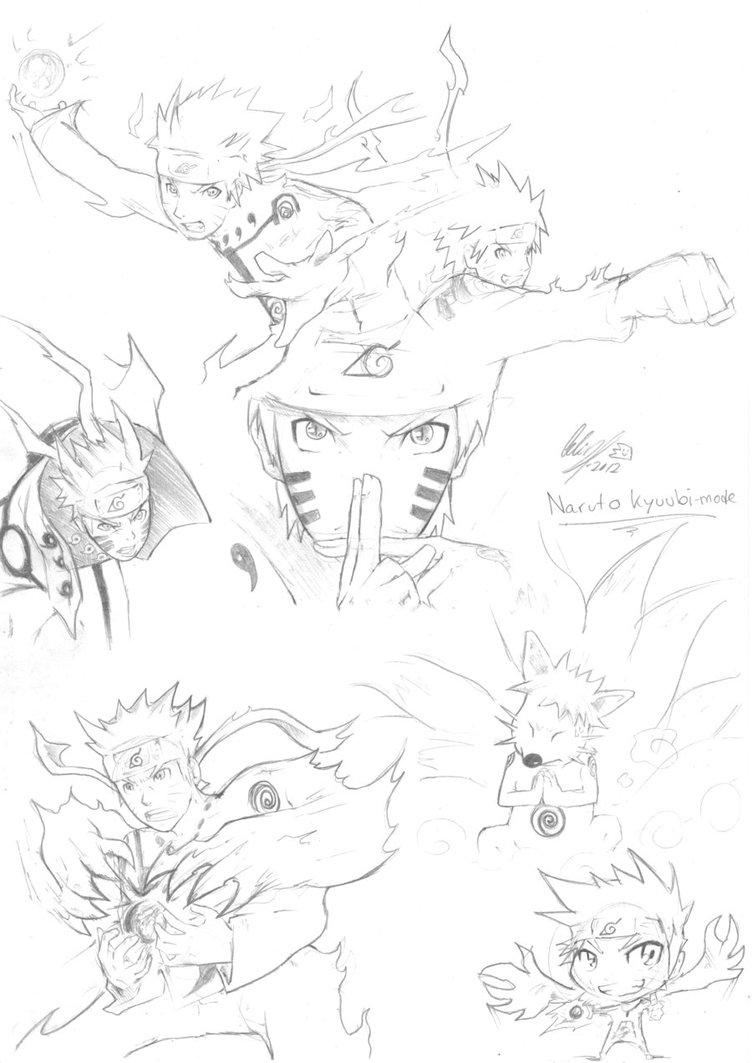 Drawn naruto naruto kyuubi Mode by Kyuubi/Biju studioodin studioodin