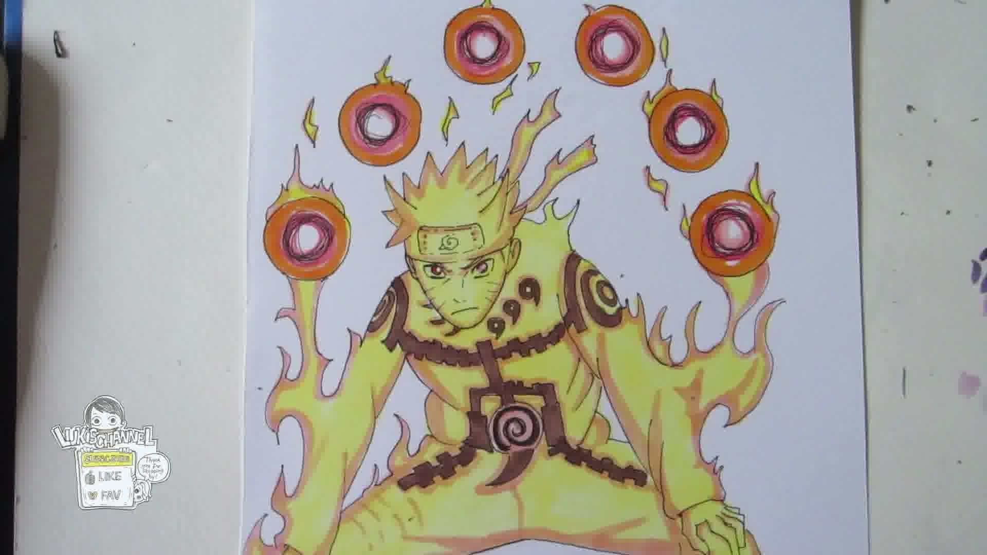 Drawn naruto naruto kyuubi Naruto Kyuubi mode How YouTube