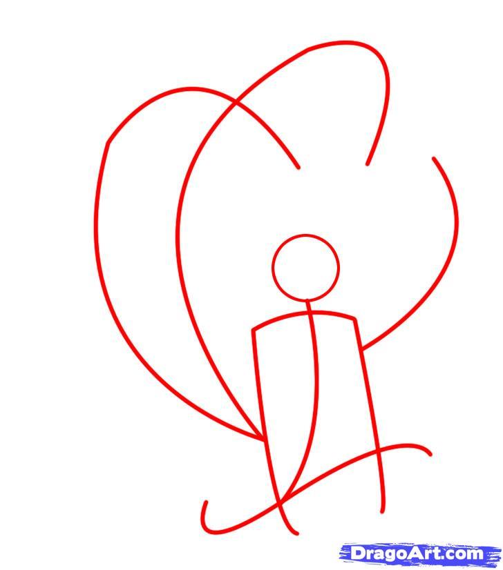 Drawn naruto naruto kyuubi Kyuubi step Step 1 Anime