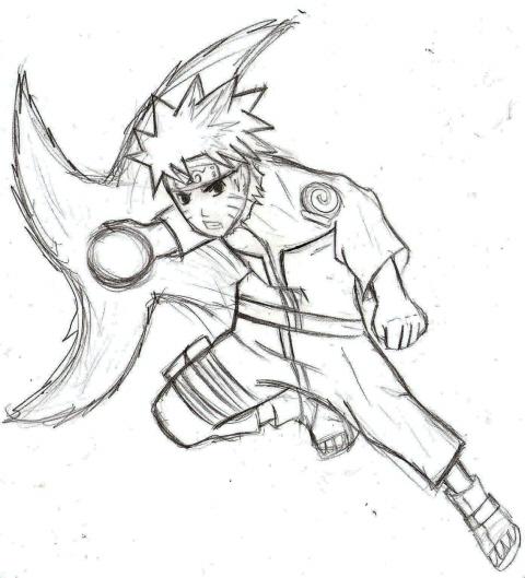 Drawn naruto naruto rasengan Naruto picture Naruto by Wind