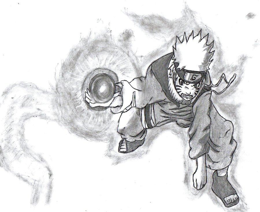 Drawn naruto naruto rasengan Kyuubi Naruto's by Rasengan Naruto's
