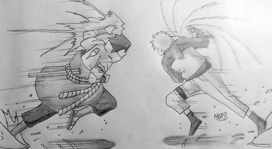 Drawn naruto naruto rasengan Of CHIDORI two The The