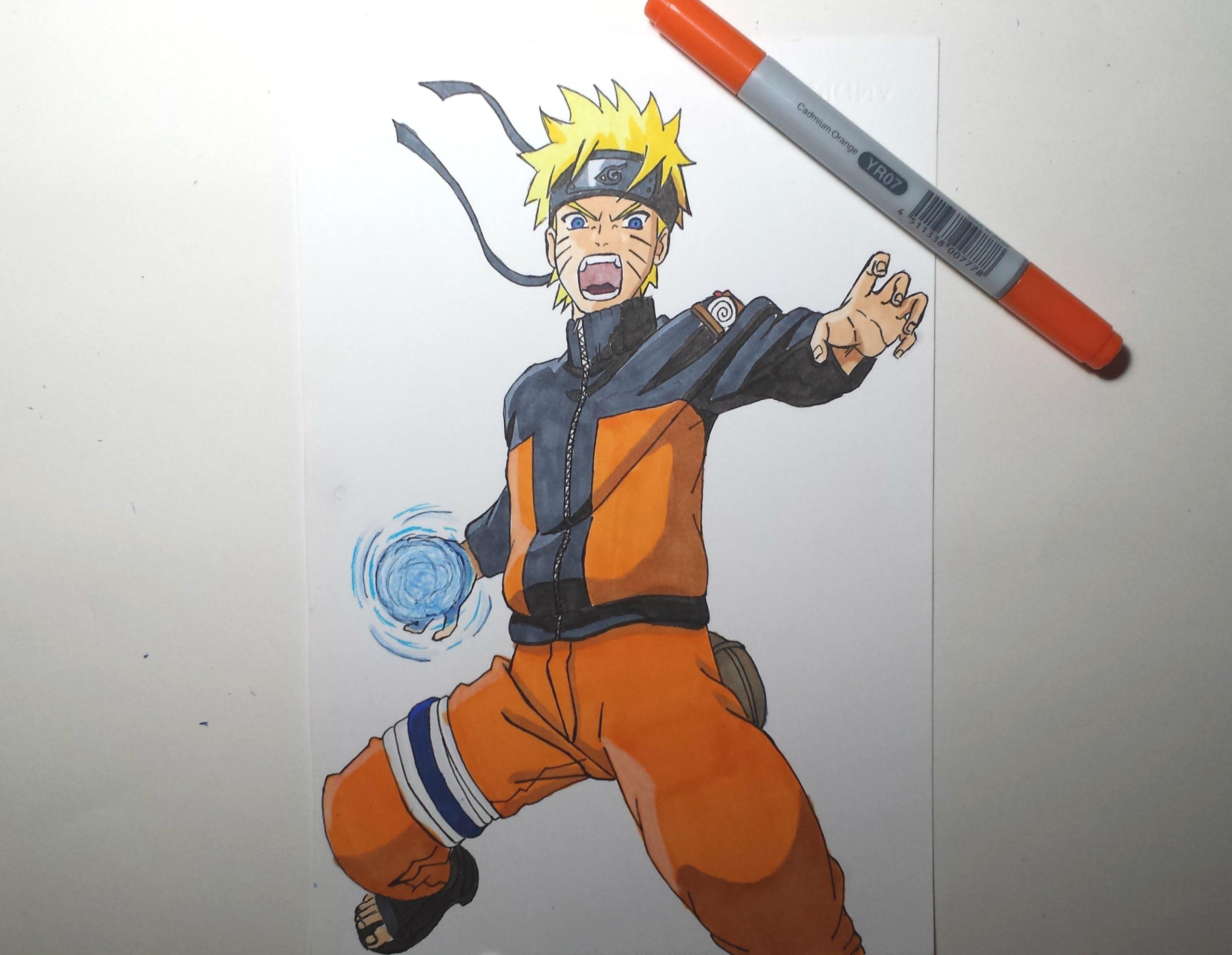 Drawn naruto naruto rasengan  ナルト螺旋丸 Naruto YouTube Speed
