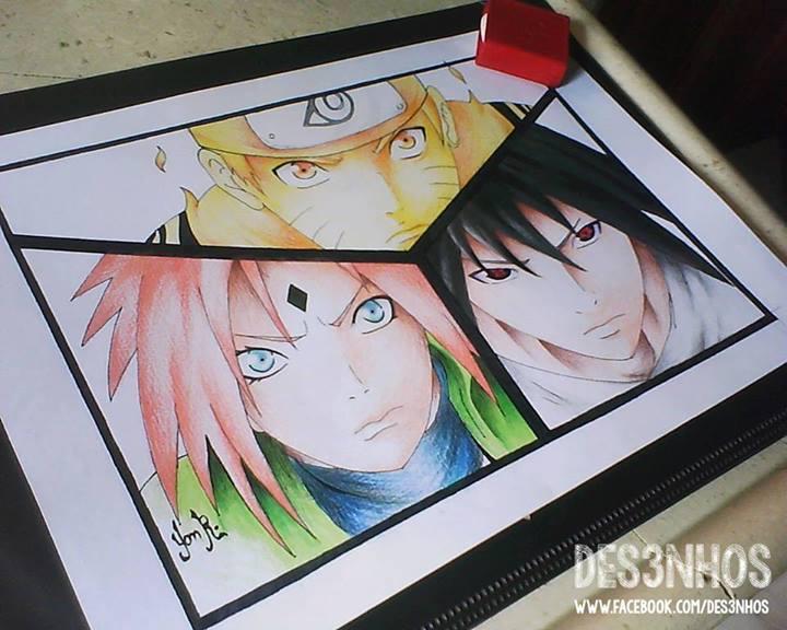 Drawn naruto naruto shippuden Drawing 7 7 Naruto Team