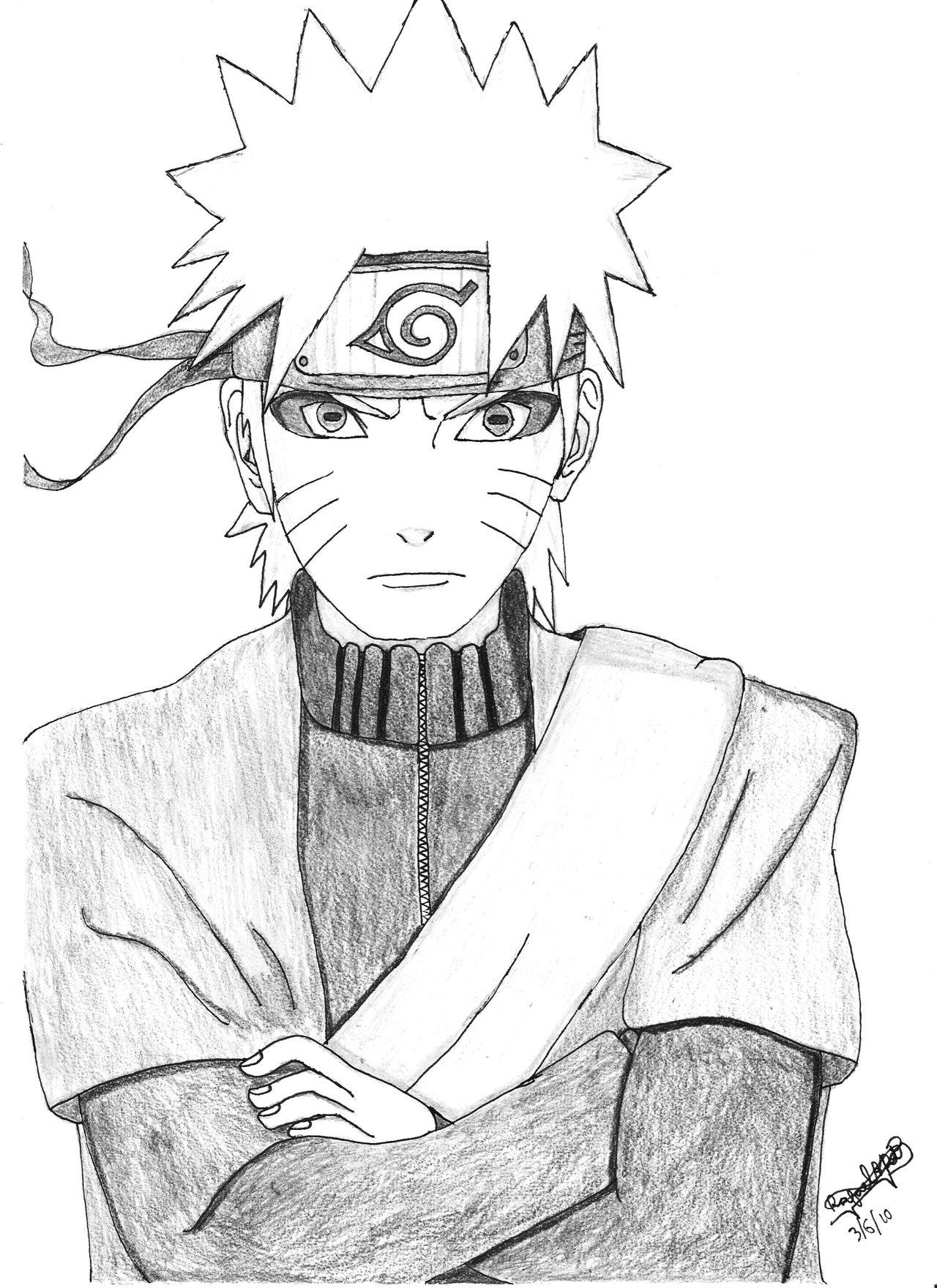 Drawn naruto naruto uzumaki Sennin Naruto Mode RafaARP by