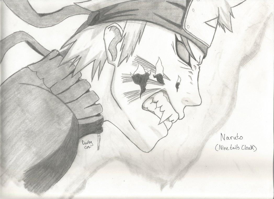 Drawn naruto nine tailed Mode Nine Naruto Uzumaki Naruto