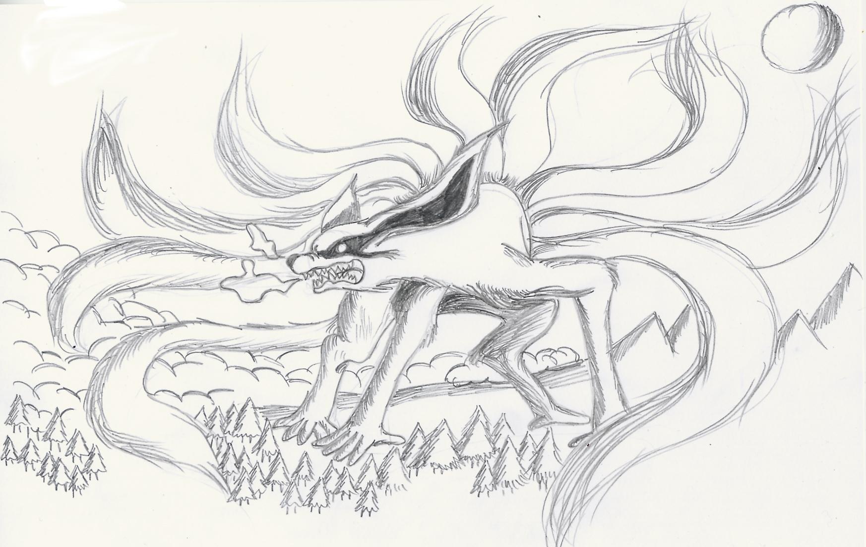 Drawn naruto nine tailed Tailed Naruto  nine Tailed