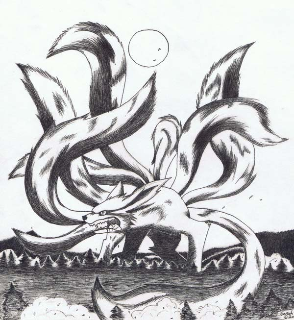 Drawn naruto nine tailed Nine fox Gumiho Masteri nine