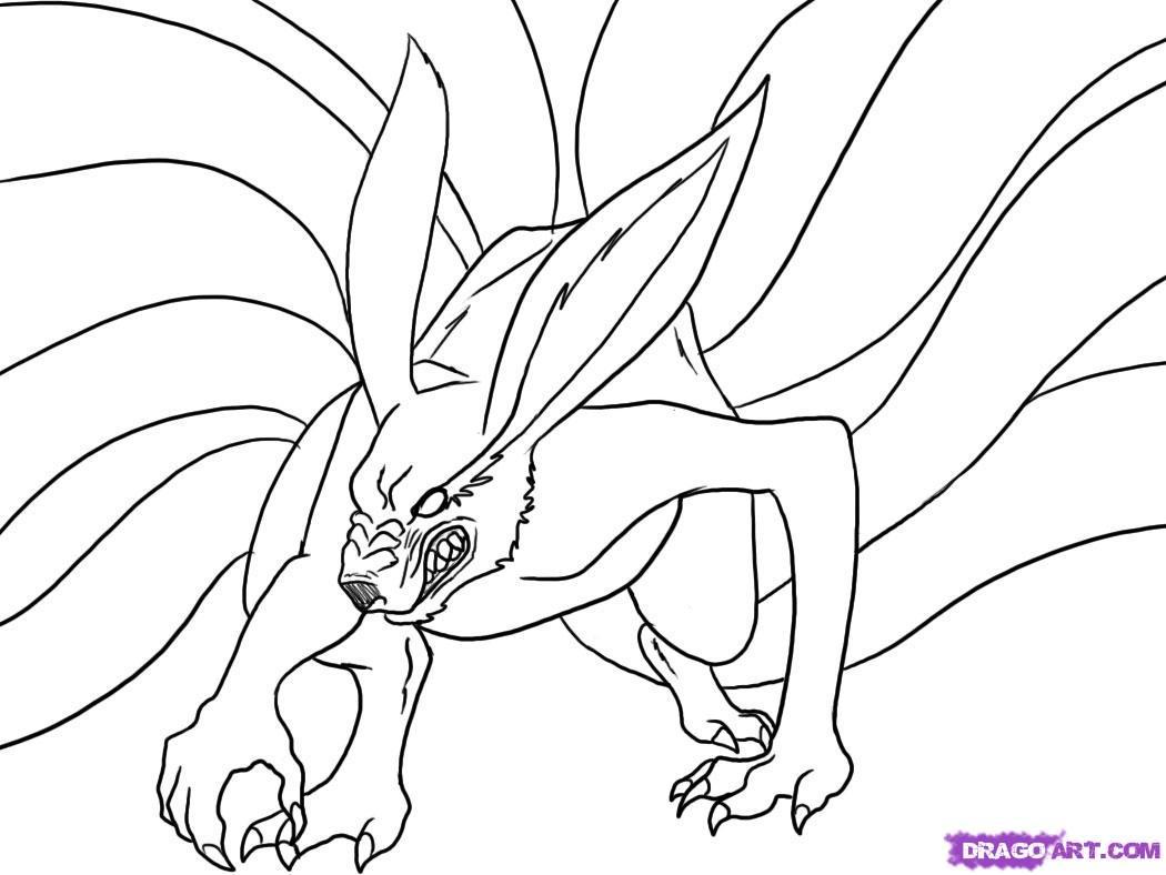 Drawn naruto nine tailed 5 nine Step by draw