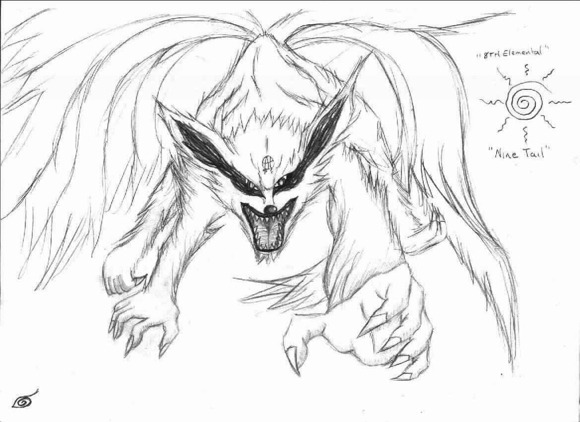 Drawn naruto nine tailed Anime Tailed Step by Draw