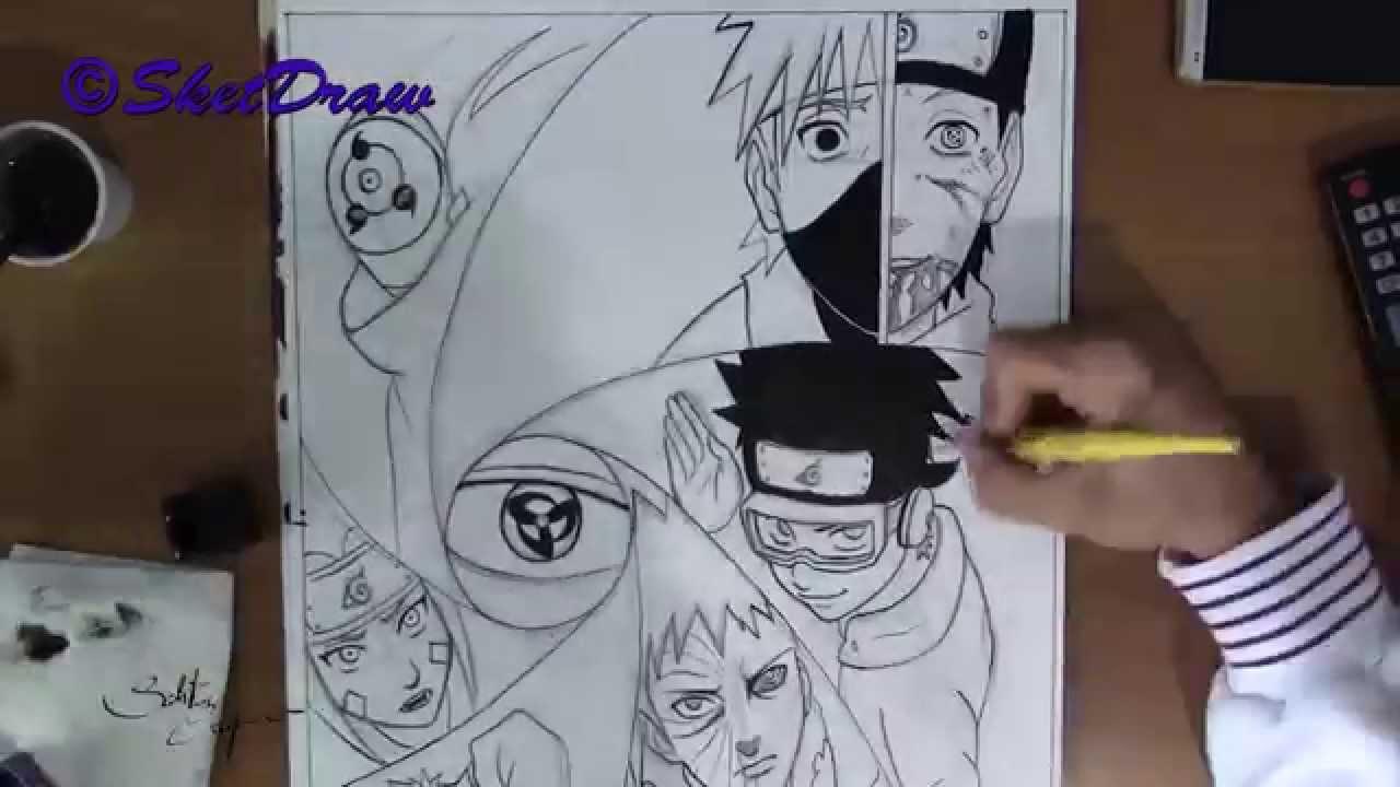 Drawn naruto obito  Obito Naruto YouTube Speed
