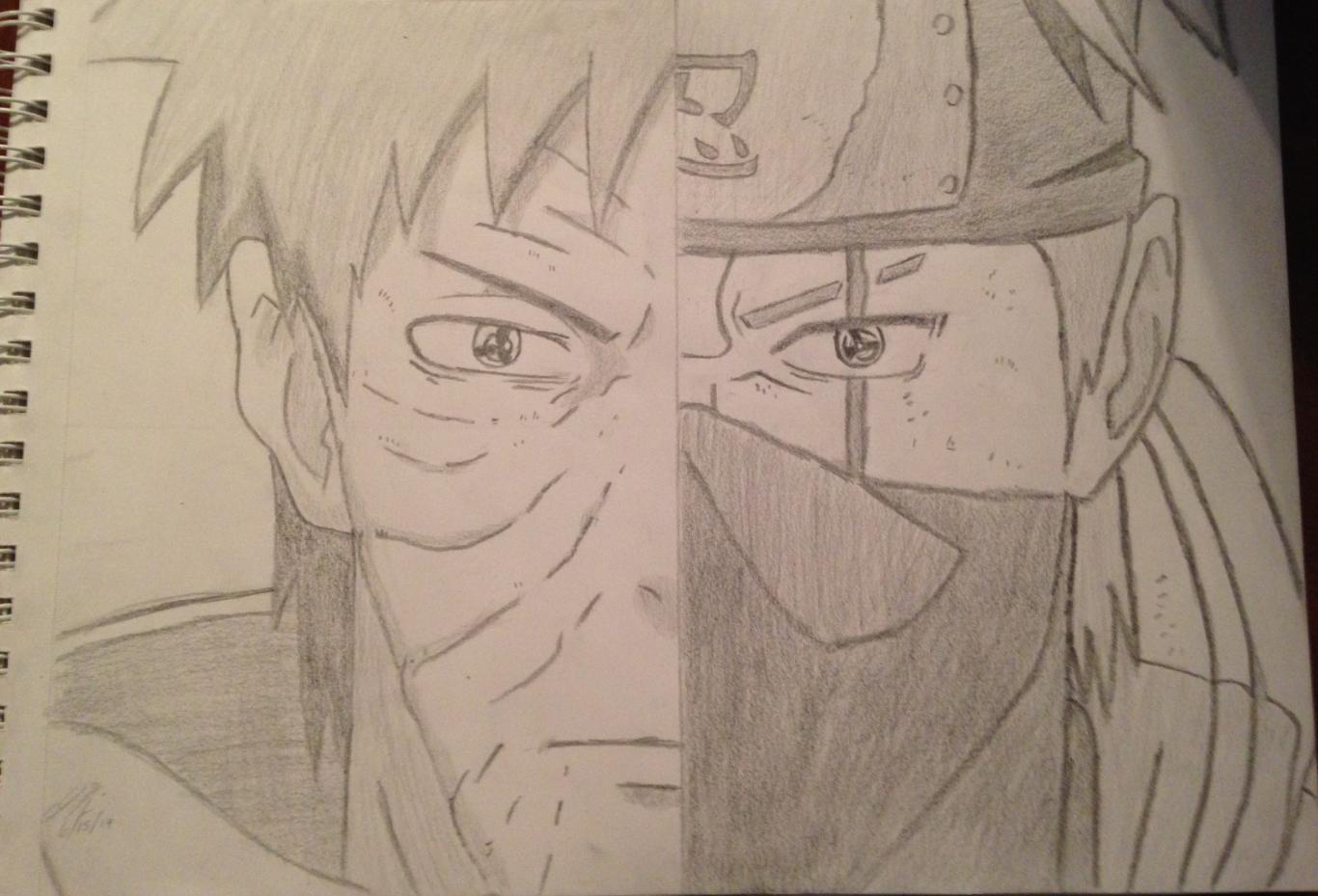 Drawn naruto obito Fan drawing drawing My Naruto