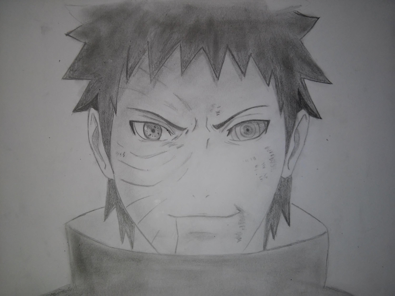 Drawn naruto obito  Uchiha Shippuden Obito Naruto