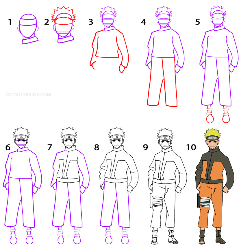 Drawn shoe naruto By Naruto Draw to Cool2bKids
