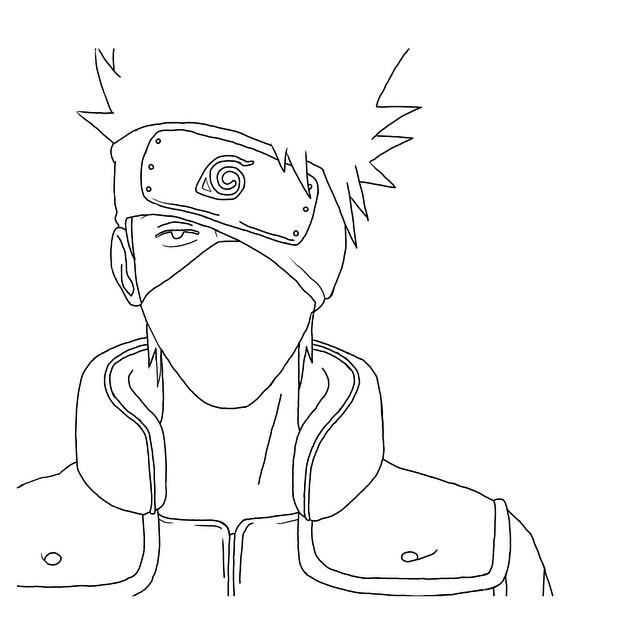 Drawn naruto outline A class=