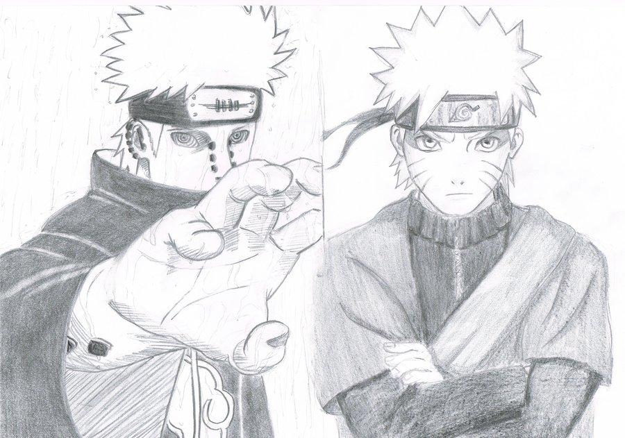Drawn naruto pain drawing Yahiko vs by Naruto Sage