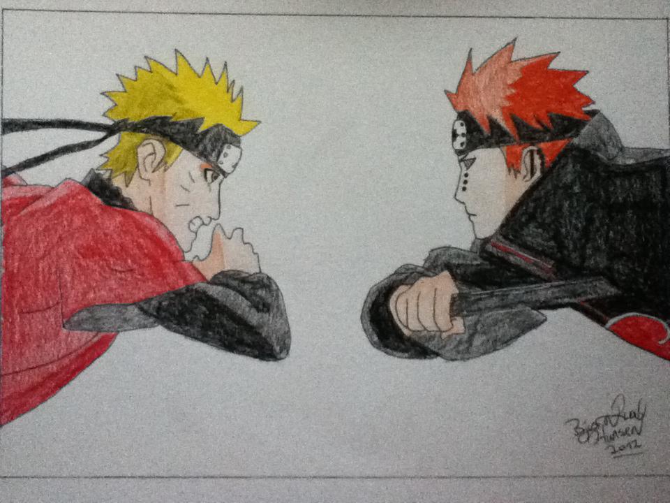 Drawn naruto pain drawing VS Pain on Zaromaru by