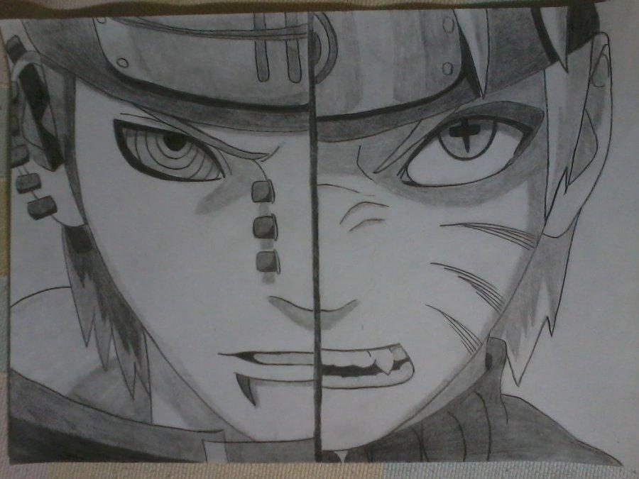 Drawn naruto pain drawing Vs Pain by Naruto Shippuuden