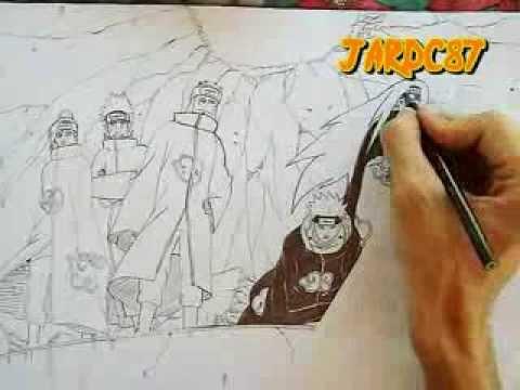 Drawn naruto pain drawing Drawing Six (Naruto YouTube Pain