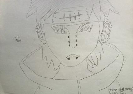 Drawn naruto pain drawing 124645  jpg youtube shippuden