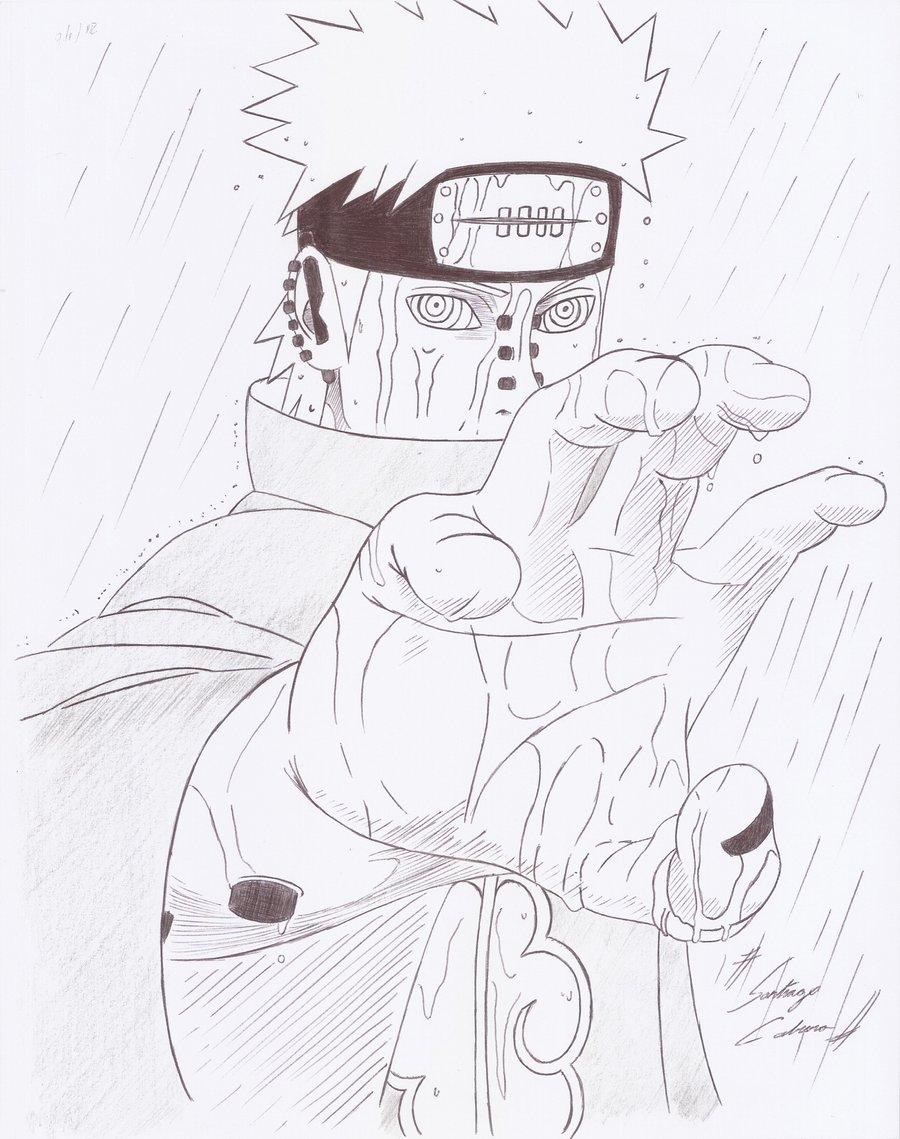 Drawn naruto pain drawing Naruto DeviantArt shippuden shippuden Pain