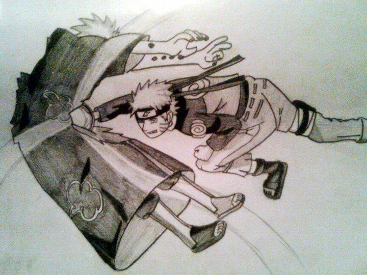 Drawn naruto pain drawing Vs Pain and Naruto VsDrawings