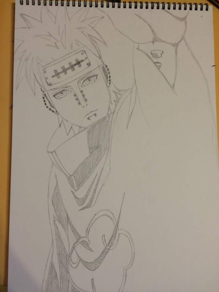 Drawn naruto pain drawing I careful drawing started for