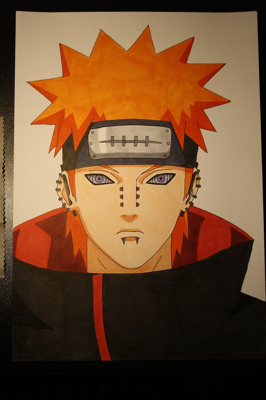 Drawn naruto pein My drawing by on My